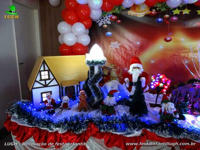 Decoração Papai Noel (Natal) para festa de aniversário infantil