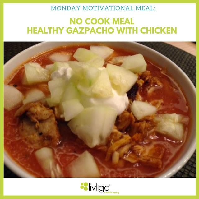 Healthy Gazpacho with Chicken