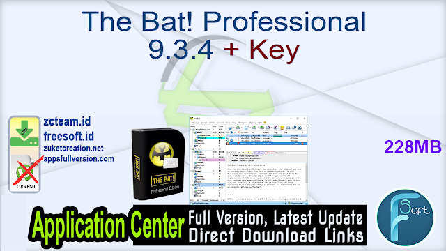 The Bat! Professional 9.3.4 + Key_ ZcTeam.id