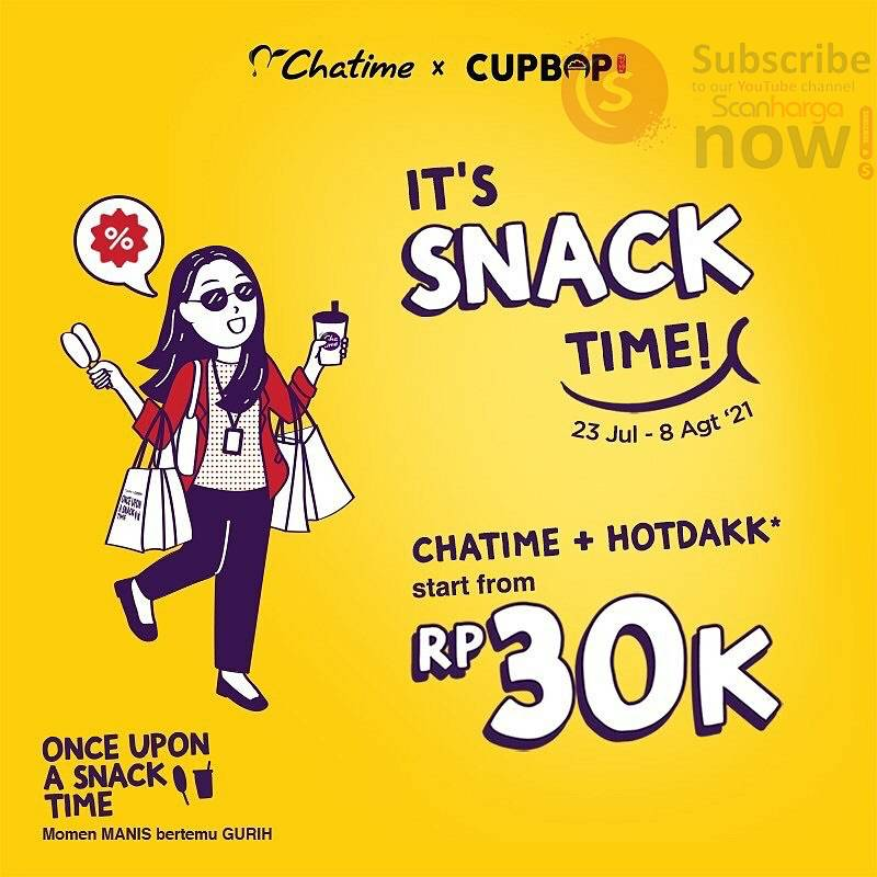 Chatime X Cupbop Promo Snack Time harga mulai Rp. 30.000