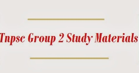 TNPSC Group 2 & Group 4 & VAO Exam Study Materials ~ TRB TNPSC