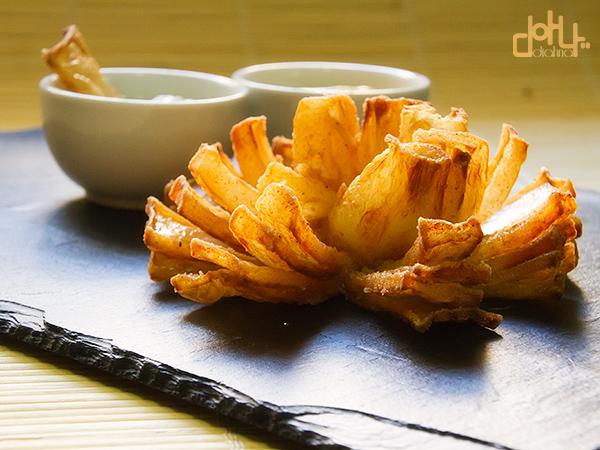 Flor de cebolla frita - Acibechería