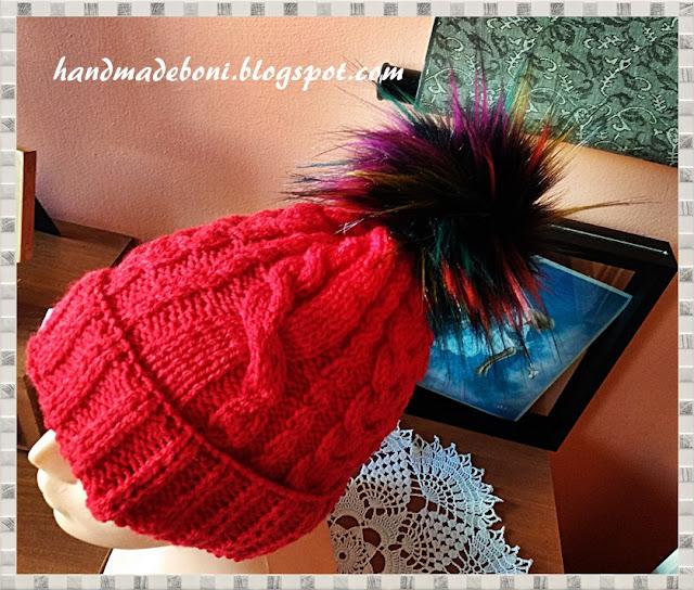 Czerwona czapka z warkoczami . Zrób razem ze mną :-)