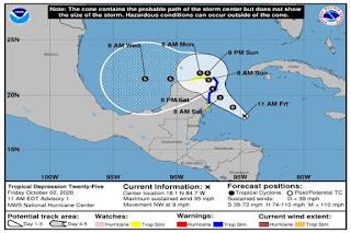 Se forma depresión tropical número 25