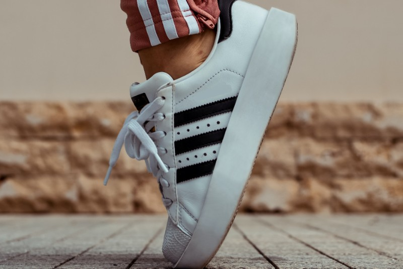 3 stripes White sneaker, men's.