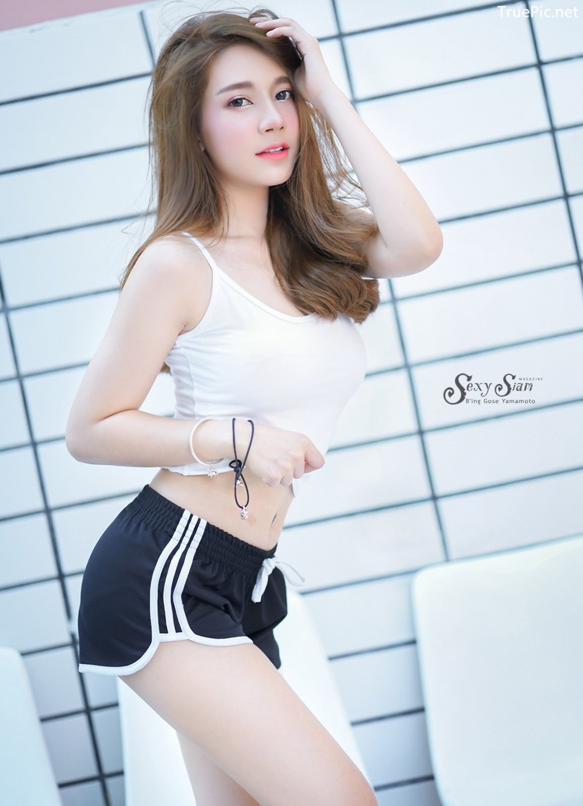 Image Thailand Model - Sasipa Tungmay Jibkrapong - White Crop Top - TruePic.net - Picture-4
