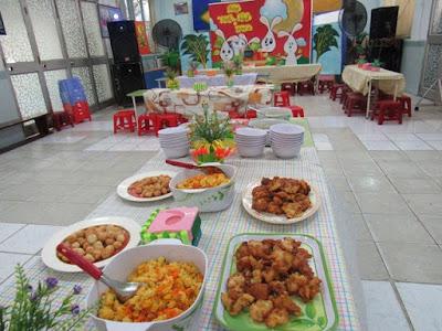các món ăn trong bữa tiệc sinh nhật