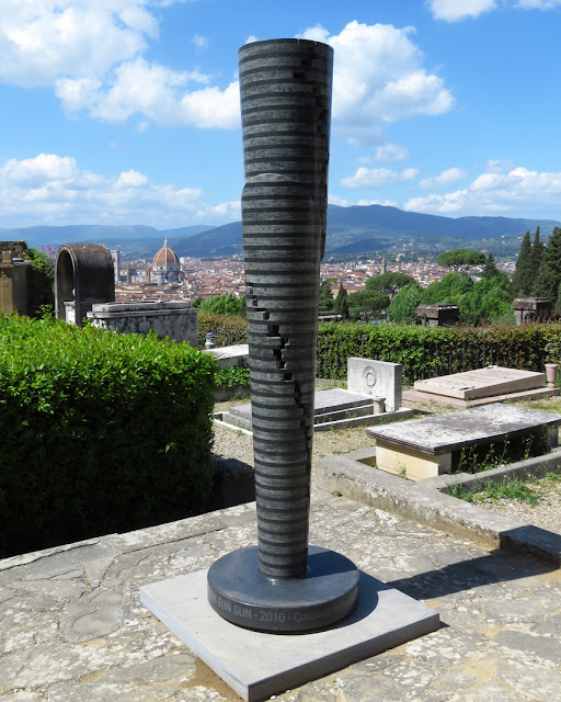 """Colonna infinita"" (Infinite Column) by Park Eun-sun, San Miniato al Monte (St. Minias on the Mountain), Florence"