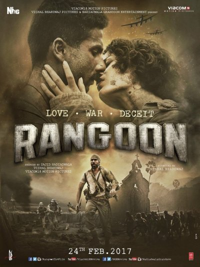 Poster Rangoon 2017 Full Hindi Movie Download 700MB DVDr