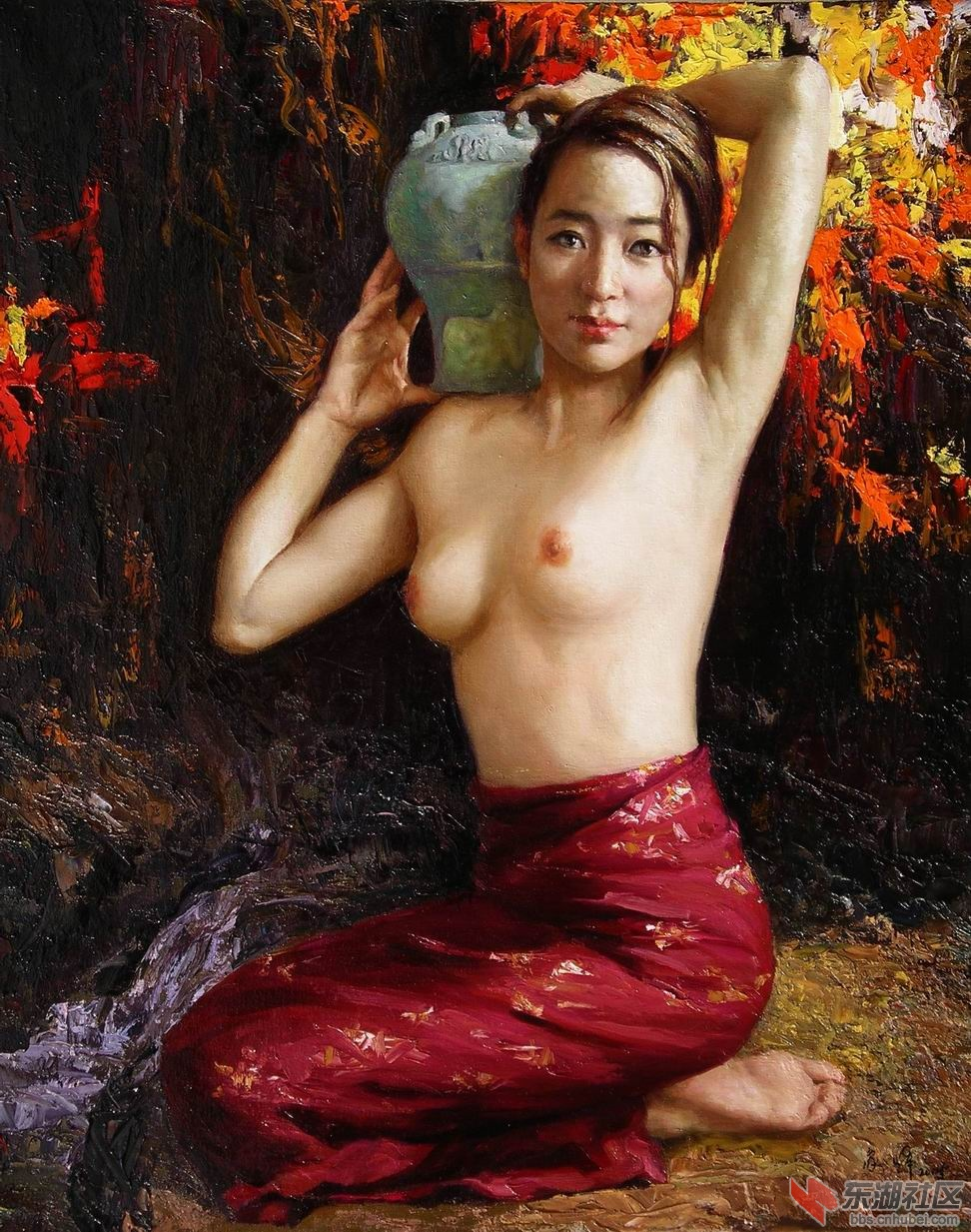 油画《梦》《倩影 qiàn ​yǐng》入选法国卢浮宫世界艺术大展获特别奖。Oil painting titled《Dream》《Beautiful image of a woman》 selected for the France Louvre, the world art exhibitions and won a Special Award.