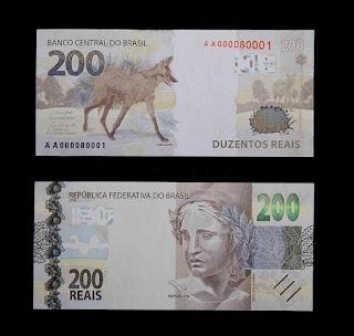 Nova nota cédula de R$ 200,00 - duzentos reais