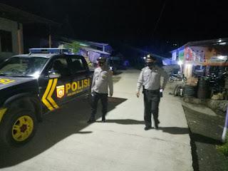 Cegah Tindak Kejahatan Pada Malam Hari, Personel Polsek Malua Terus Galakkan Patroli Blue Light