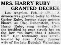 Chloe Carter Divorces Harry Ruby