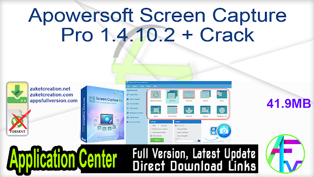 Apowersoft Screen Capture Pro 1.4.10.2 + Crack