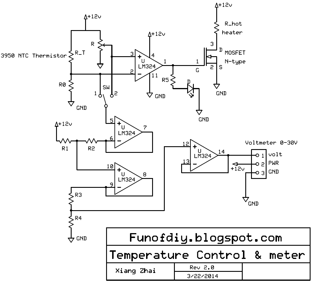 small resolution of schematics of the temperature control system