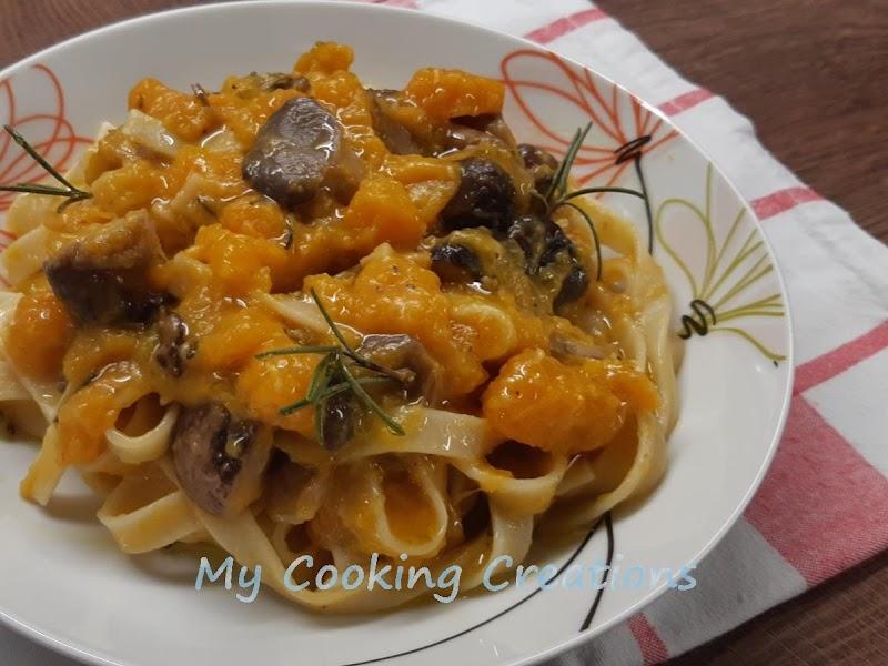 Талиателе с тиква и ароматни горски гъби * Tagliatelle ai funghi e zucca