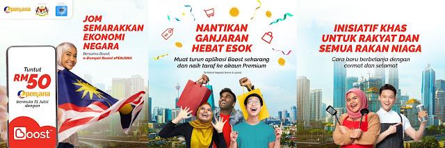 Cara Mohon dan Tebus Kredit RM50 ePENJANA Menggunakan Boost