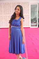 Divya Nandini stunning Beauty in blue Dress at Trendz Exhibition Launch ~  Celebrities Galleries 065.JPG