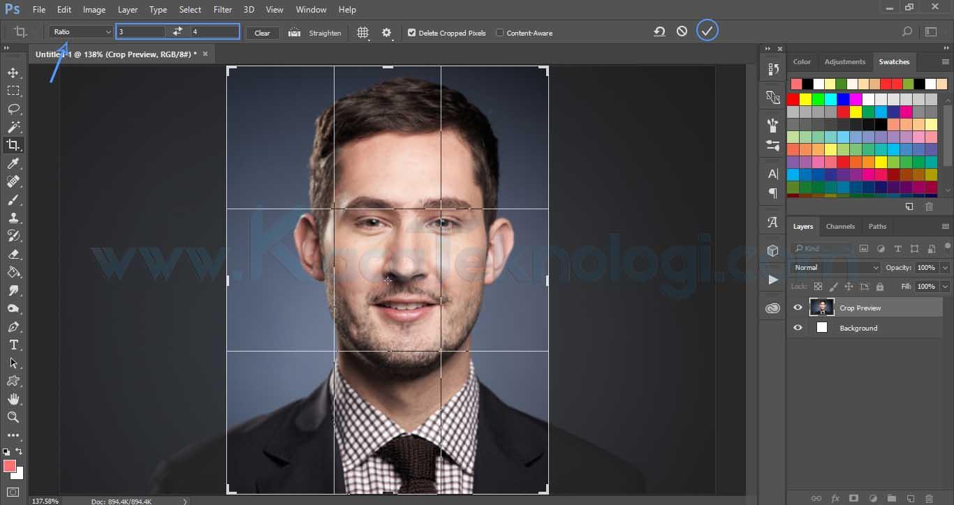 3 Cara Mengubah Ukuran Foto Menjadi 4x6 3x4 2x3 Di Photoshop Paint Dan Canva Kaca Teknologi