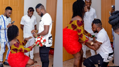 """I Will Worship You As My Lord"" – Lady Says As She Kneels To Accept Boyfriend's Proposal"