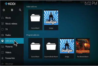kodi Click on Addon