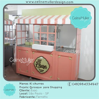 Carrinho gourmet vintage desenvolvido para marca Ki Churros