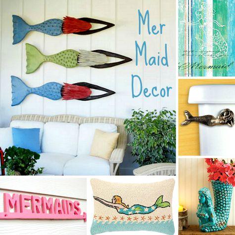Mermaid Decor & Wall Art - Coastal Decor Ideas and ...