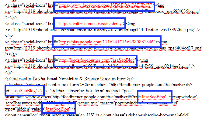 Multi Fungsi Dari Widget Facebook, Widget Twitter, Gadget Google Plus, Serta Adanya Langganan Artikel
