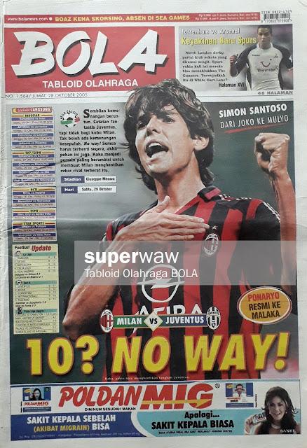 RICARDO KAKA OF AC MILAN SOCCER MAGAZINE COVER