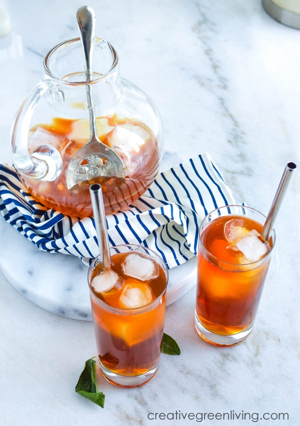 DIY Homemade unsweetened iced tea