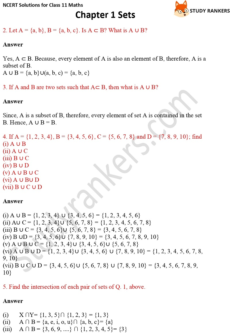 NCERT Solutions for Class 11 Maths Chapter 1 Sets 10