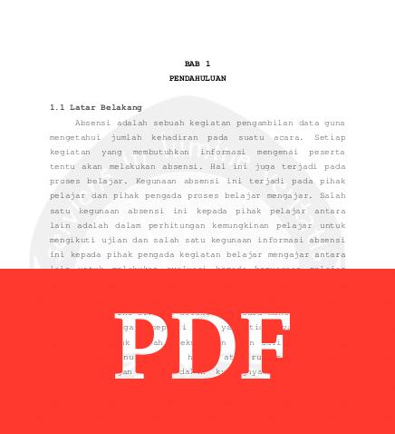 Contoh Bab 1 Skripsi Teknik Informatika Tentang Absensi Arsip Org