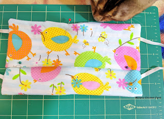 Pins and sew tucks, dust mask