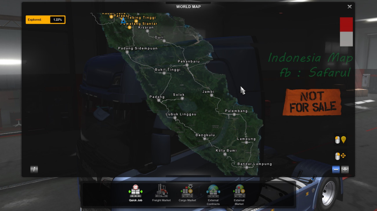 MOD MAP SUMATRA by Safarul Ilham untuk ETS2 v1.30 - v1.36 / v.137