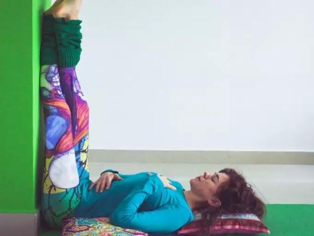 Legs-Up-the-Wall or Viparita Karani