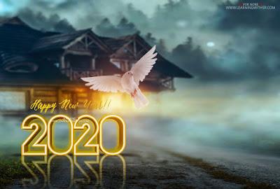 happy new year photo editing background picsart 2020