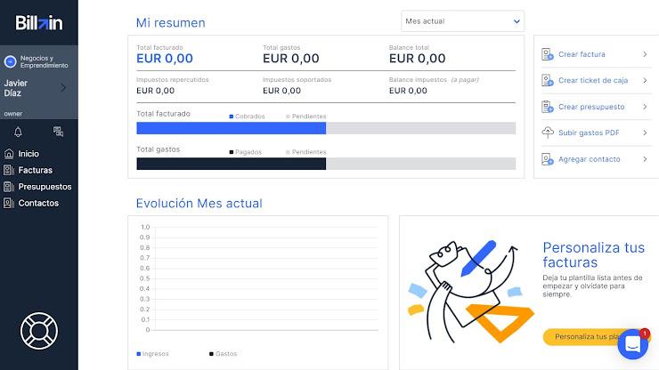 Herramienta online de facturación - Billin
