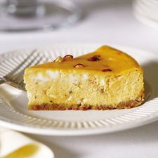 Hazelnut, White Chocolate, and Pumpkin Cheesecake Recipe