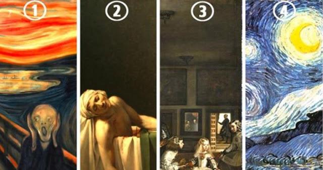 Выберите свою любимое произведение искусства, а затем узнайте, что она может рассказать о вас