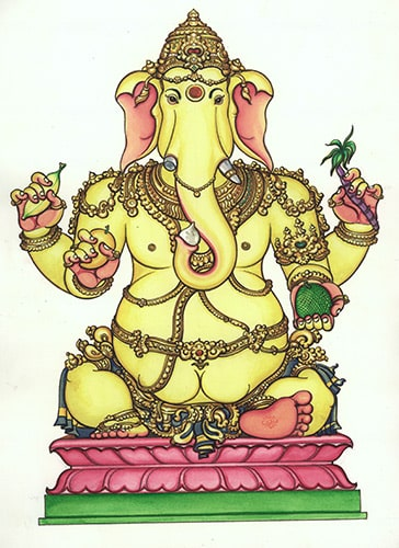 32 Forms of Ganesha - Lord Ganapati with Painting Pictures