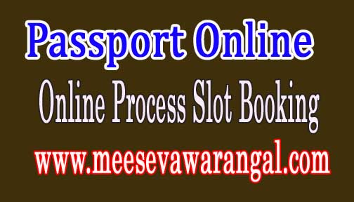 Passport Online Application Process for Appointment Slot booking Get Passport in two days