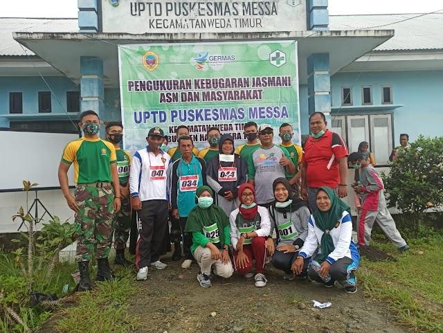 Satgas Yonarmed 9 Kostrad, Olahraga Bersama Masyarakat  Weda Timur