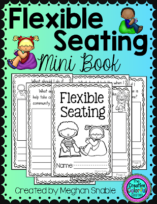Flexible Seating mini book, created by Meghan Snable. Available on TpT.
