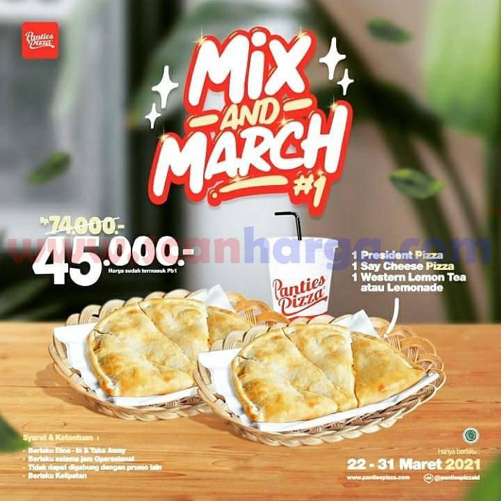 Panties Pizza Promo Mix And March harga mulai Rp 45 Ribu-an