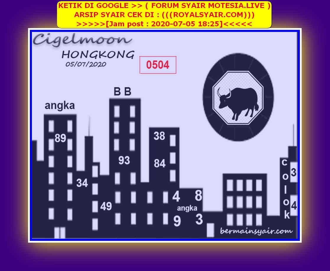 Kode syair Hongkong Minggu 5 Juli 2020 134