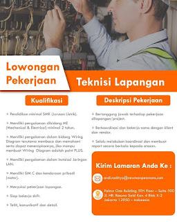 Info Lowongan Kerja Newmanpearsons Jakarta Juni 2018 - pada kali ini kami akan memberikan sebuah informasi lowongan kerja terbaru untuk anda, khususnya untuk anda laki-laki dengan ijazah terakhir minimal SMK jurusan Listrik