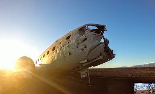 Islande la carcasse de l'avion DC-3