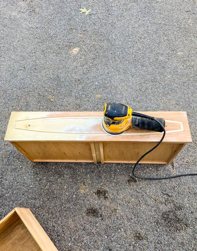 Sanding mcm dresser