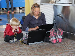 Dr. Alida Anderson and Little Junes at National Airport - April 2013