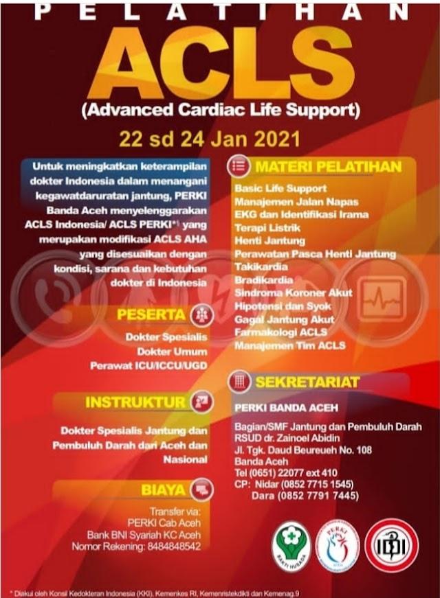 Jadwal ACLS PERKI Banda Aceh Tahun 2021
